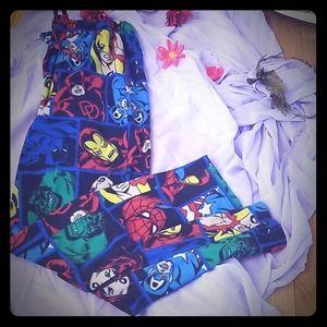 Men's Marvel Superhero Comfy Fleece Sweatpants
